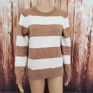 J.Crew Sweater M Wool Blend Pullover Striped (018)